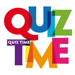 Quiz time Vector illustration colorful letters banner
