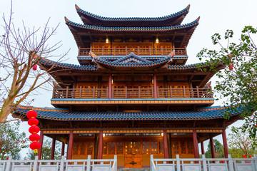 Wenchang Pavilion of Confucius Cultural City, Suixi County Fototapete