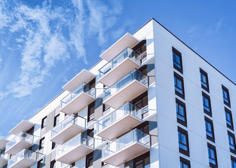 White color Apartment home house residential building complex real estate