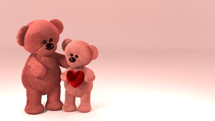 teddy bears: parent and child