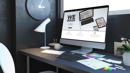 website design workspace