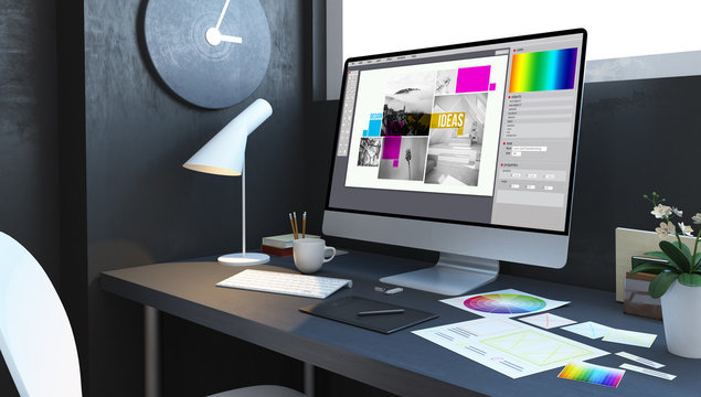 typesetting design workspace