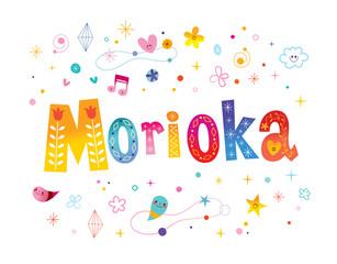 Morioka city in Japan