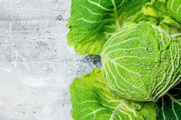 Savoy cabbage whole.