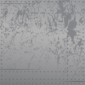 Distressed metal with rivets background vector illustration