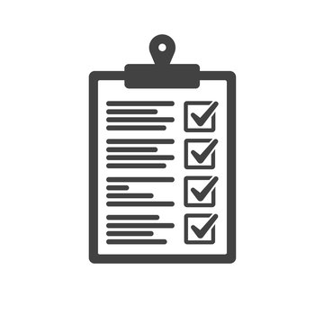Clipboard and check mark vector icon. Compliance regulations rules flat Stock Vector | Adobe Stock