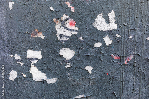 Gray Concrete Wall With Ling Paint And Red White