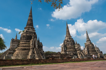 Wat Phra Si Sanphet, the old temple in Ayutthaya and a World Heritage Site.