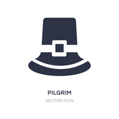 pilgrim icon on white background. Simple element illustration from Thanksgiving concept.