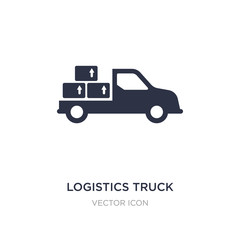 logistics truck icon on white background. Simple element illustration from Transport concept.