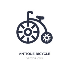 antique bicycle icon on white background. Simple element illustration from Transport concept.