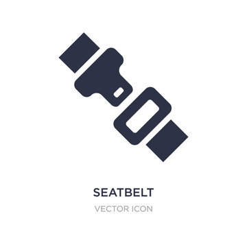 seatbelt icon on white background. Simple element illustration from Transport concept.