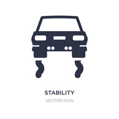 stability icon on white background. Simple element illustration from Transport concept.