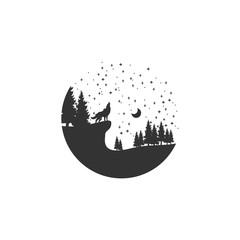 wolf adventure logo design