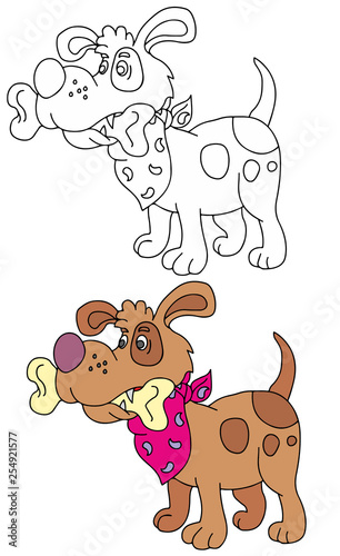 Coloring Pages For Childrens With Funny Animals Dog With