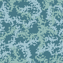 Marine camouflage of various shades of blue colors