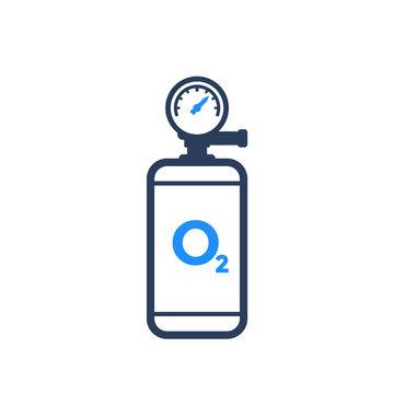 oxygen tank icon on white
