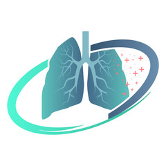 Lungs sign. Iconic logo designs. Lungs Logo template