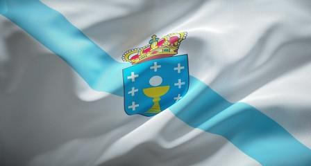 Bandera oficial de Galicia, comunidad autónoma Española.