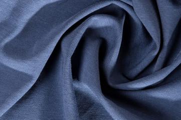 crumpled gray blue fabric