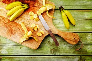 banane von oben