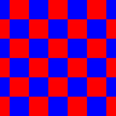 Red and Blue Checkered Seamless Repeating Pattern Background Vector Illustration