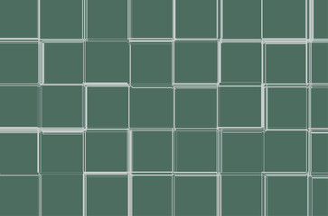 Abstract green geometric background with a squares