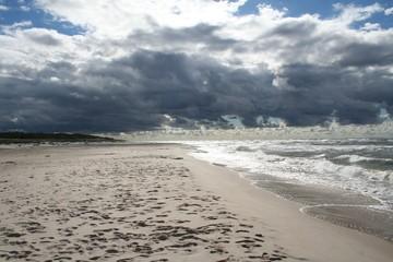 Plaża Morze Bałtyckie Słowiński Park Narodowy
