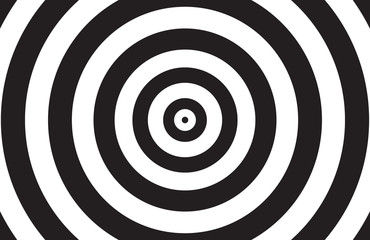 Black and white circle background
