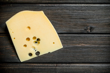 Fresh piece of cheese.