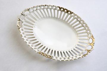Vintage porcelain bread bowl for table setting
