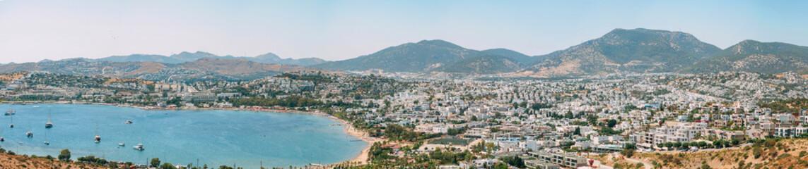 Panoramic view of marina - Bodrum, Turkey