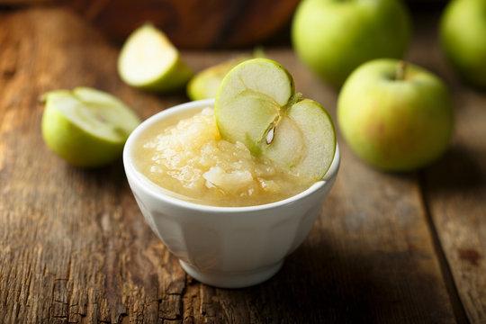 Healthy apple puree