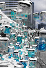Singapore Blue Street Art
