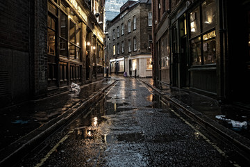 Canvas Prints London Street at Night