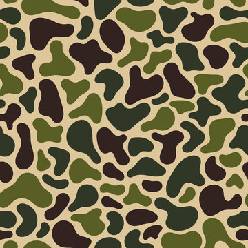 Camouflage Fluid simple pattern. Geometric Seamless pattern. Abstract vector illustration with geometric elements, shapes.