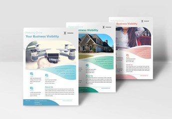 Flyer Layout with Round Place Holder