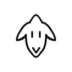 Sheep icon. Farm animal sign
