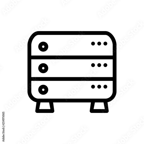 Server icon  File cloud sign