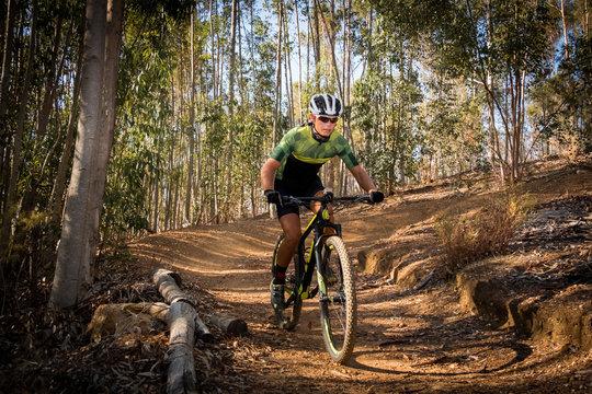 teenage mountain bike rider