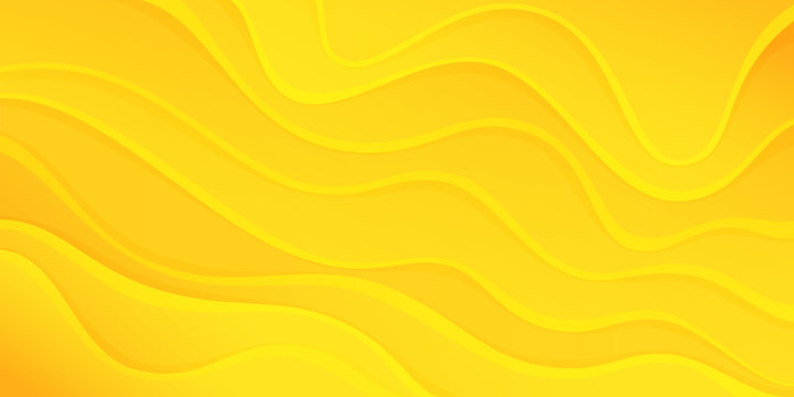 Yellow color abstract background. Dynamic background with wave shapes