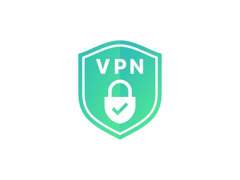 Virtual private network icon. Shield with VPN vector icon