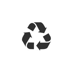 Recycle icon in simple design. Vector illustration