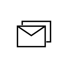 Mail icon. Businesscard sign