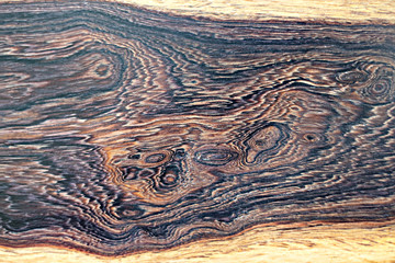 Real burl wood striped for Picture prints interior decoration, Exotic wooden beautiful pattern for crafts or abstract art texture background