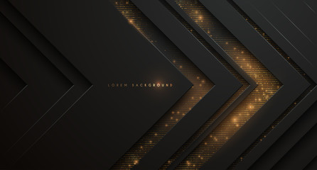 Abstract black and gold background