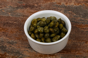 Capers in the bowl