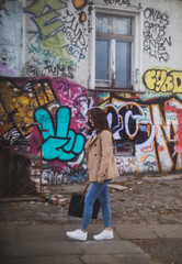 young girl playing wild in berlin
