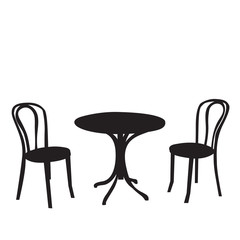 silhouette table and chairs