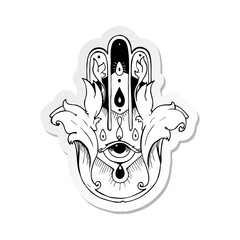 sticker of a hamza tattoo symbol